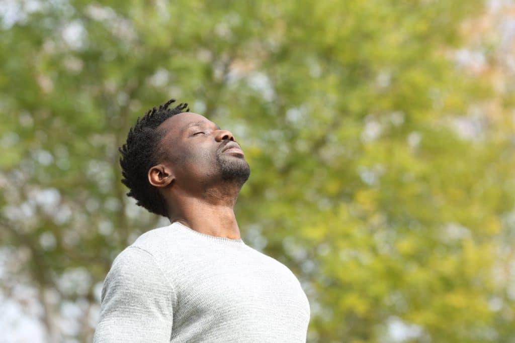 light-heart meditation man